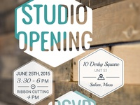 Studio Opening Invitation