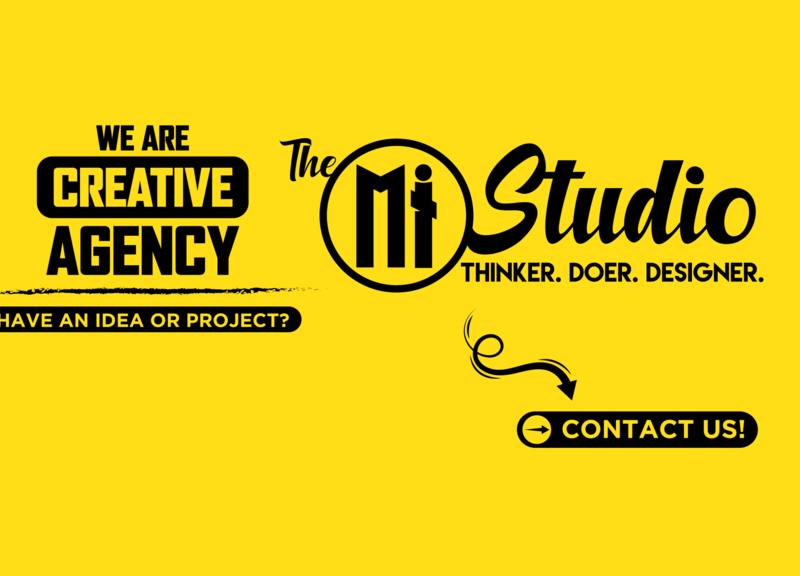The Mi Studio Graphic Agency Facebook Page Cover website illustrator branding flat minimal web typography vector illustration design