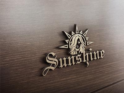 Sun Shine Logo Design with Free 3D Mockup flat logo typography vector branding illustrator 3d mockup minimal illustration design
