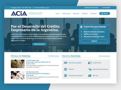 Acia Website home homepage blue ux ui webdesign design site website