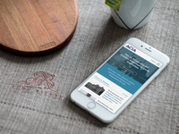 Acia Mobile Version design site website webdesign phone iphone responsive mobile homepage