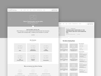 Strive training wireframes