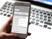 Banking App filter box