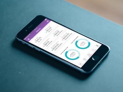 Stats charts metrics numbers ui ux design app mobile dashboard stats