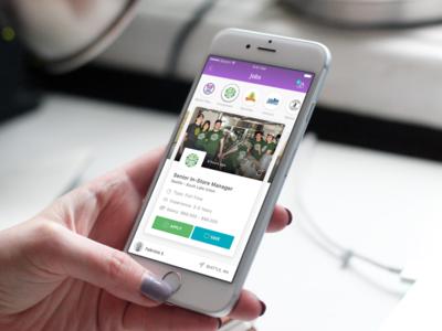 Hiring Tool design mobile ios app jobs candidates ux ui tool hiring
