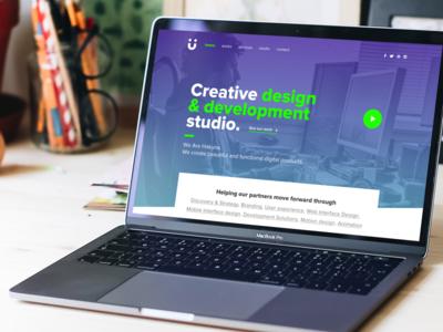 Studio site design ux ui website site agency studio wip