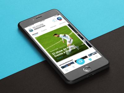 Selección Argentina design ux ui iphone mobile soccer 2018 russia mundial argentina app futbol