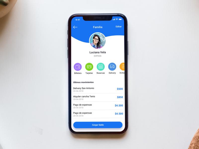 App ideas uidesign dashboard profile blue user center design interface iphonex mobile app design design mobile ideas app concept app