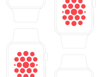 Pixel Perfect Apple Watch Wireframe Mockup