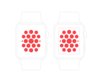 Pixel perfect apple watch wireframe mockup full