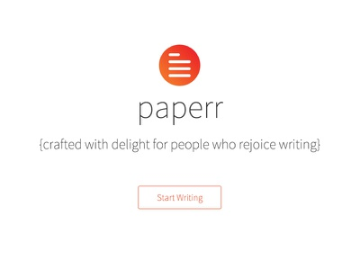 Paperr: An Elegant Writing Tool For Web editor writing tool paperr