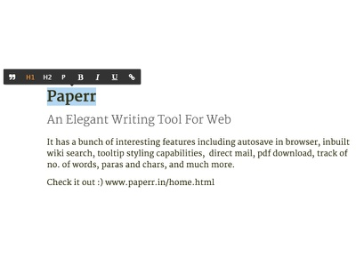 Paperr Editor editor writing tool paperr
