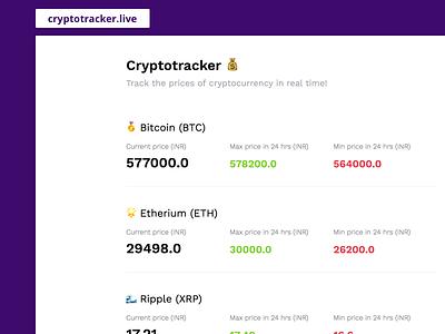 Cryptotracker etherium bitcoin cryptocurrency