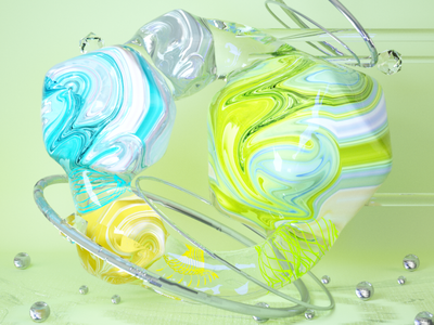 Liquid Marbling illustration design cinema4d abstract 3d art 3d