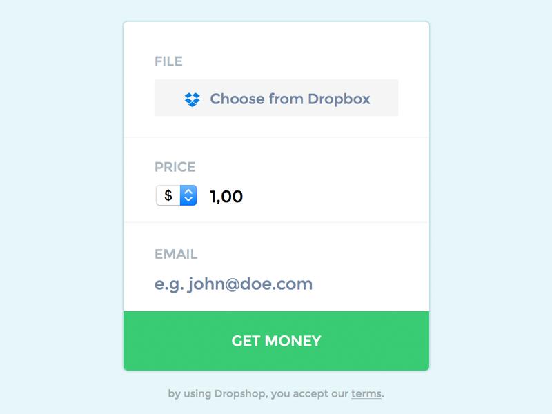 Dropshop payment shop buy dropbox files sell dropshop