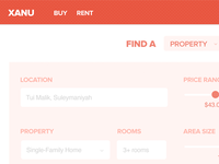 Real Estate site mock-up