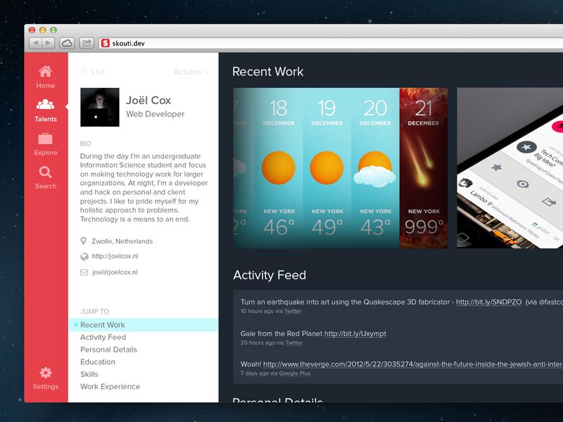 Re-thinking Skouti skouti ui vertical menu side panels