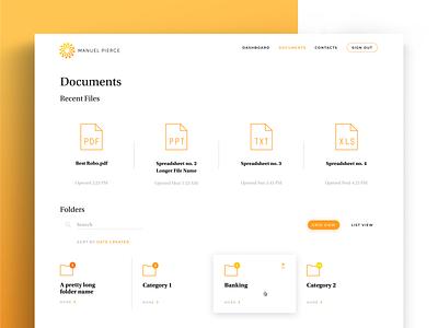 Documents managementweb service financial app banking finance ui ux storage documents storage files management files web application rwd folders management documents web service web app