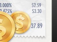 receipt&coins