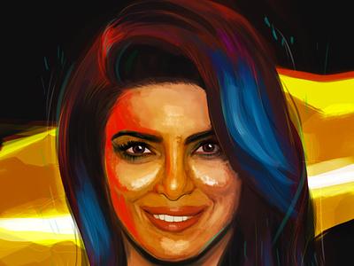Illustration of Priyanka Chopra Jonas! :) illustrator digital portrait portrait postrait photoshop priyanka chopra digital painting digitalart illustration