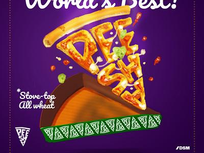 Peesha! food illustration food and drink pizza hut pizza menu pizza box pizza logo food pizza design art postrait flatdesign digital portrait digital painting digitalart illustration