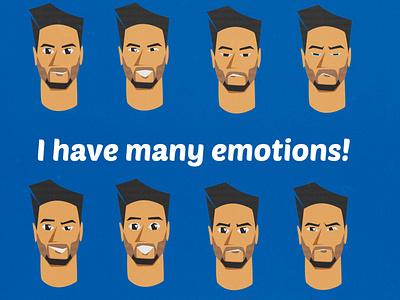 Facemojis ui emotions emoticon emoji flat illustration flat design art flatdesign digital portrait photoshop digitalart illustration