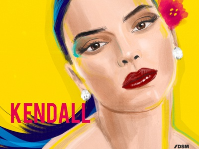 kendall portrait postrait flatdesign digital portrait photoshop digital painting digitalart illustration kardashian kendall jenner kendall
