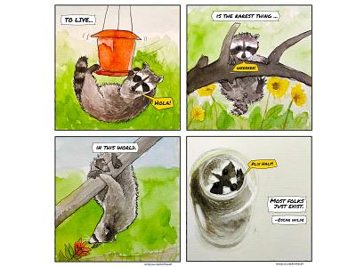 instagram.com/HartBandit design animal illustration philosophy life funny humor comicstrip comic book comicsart creative comic art ui animal raccoon comic comics photoshop