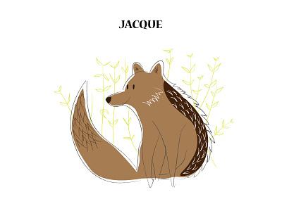 Jacque dog fox francais french character design animal jackal vector art illustrator digital portrait flatdesign digitalart digital painting illustration