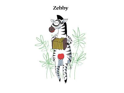 Zebby orchestra accordion music zoo animal art animals animal zebra art vector illustrator flatdesign digitalart digital painting illustration