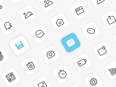 Interface Basic Icon Set iconpack set iconography freebie graphic design graphic icon set icons