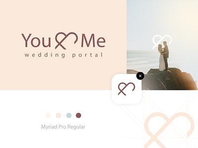 Logo concept for Wedding Portal vector graphicdesign design illustrator symbol mark logotype emblem branding logo