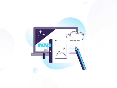 Illustrations set about Design motiongraphics motion design aftereffects gif animation graphic art illustration flat vector