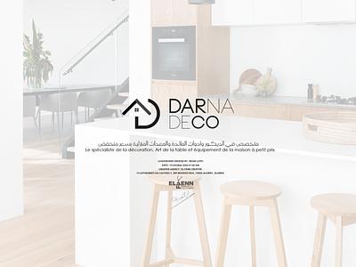 Darna Deco Logodesign For Decoratif and interior Design icon logo vector typography design branding illustration