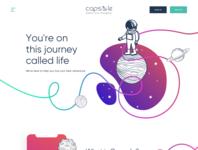 Create Capsule Homepage illustration web design concept