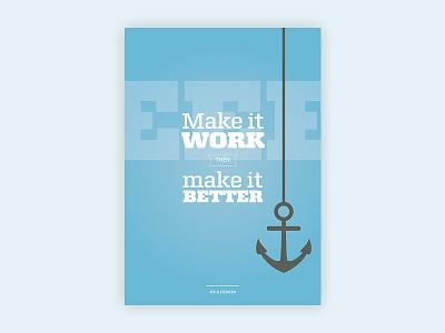 Make It Work poster design print design maersk