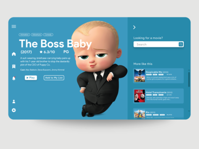 movie app UI concept for desktop website web design ui web mobile app ux design app