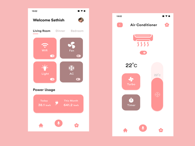 Smart Home minimal uiux ui figma smart home xd adobexd