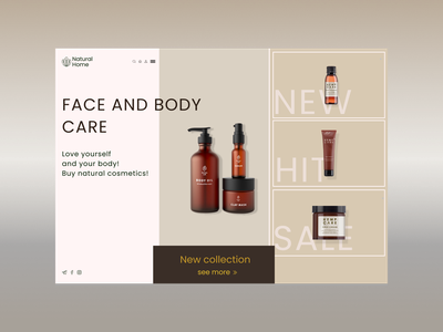 Natural Home - natural cosmetics store website logo design cosmetics natural products natural cosmetics design shot site ux ui design web