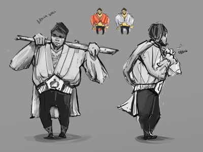 Fighter concept sketch belt wrestler birch balkan russian fighter character concept game illustration