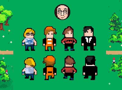 Pixel characters illustration screen ui ios mobile android game pixelart pixel