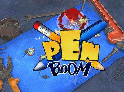 Penboom logo app design logo branding game ui screen mobile android ios