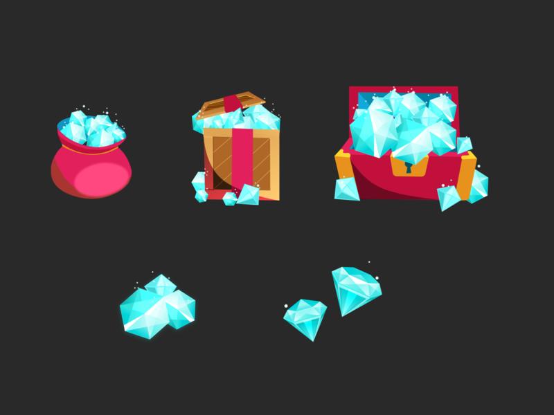 Jems game icons ui shiny jewels treasure chest diamond icon shop treasure jems mobile game