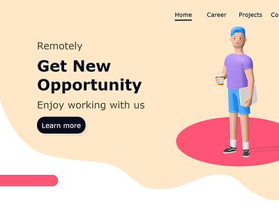 Landing Page illustration design