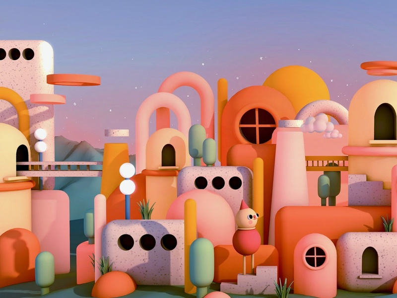 Dreamworld 3dillustration 3dart 3d blender3d blender c4d cinema4d illustration design