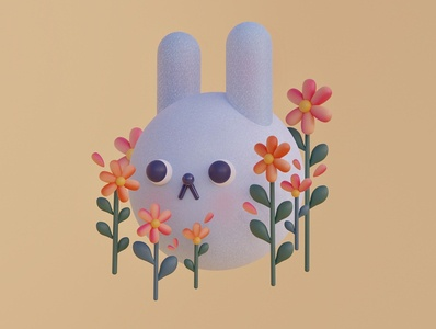 Bun Bun bunny digitalart illustration design cinema4d c4d blender3d blender 3dillustration 3dart 3d