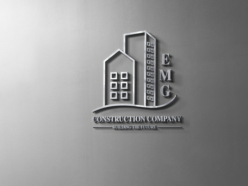 EMG Construction Company/ Logo vector icon branding logo design