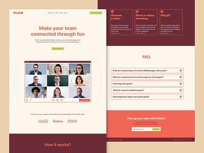 Landing Page Concept onepage homepage ui minimal typography branding design saas webdesign website landing page