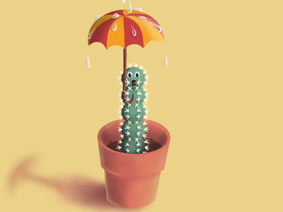 Cactus - Procreate digital illustration illustration cute digital painting digital drawing raster procreate cactus cartoon