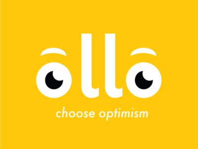 Ollo - Choose Optimism app design optimism research bold color branding and identity logo design